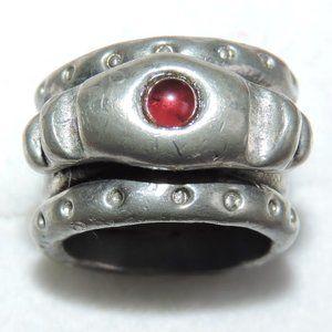 Modernist Ring Designer Pewter Garnet Sean Paul